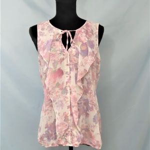 Ruffled Sleeveless Flowing top By Maurice's